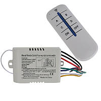 Четырёхканальный дистанционный выключатель на 220 вольт тип K