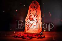 """Соляная лампа, ночник """"Роза"""""""