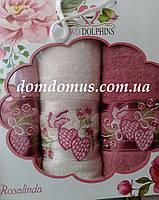 """Подарочный набор полотенец """"Rosalinda"""" TWO DOLPHINS, Турция 0125"""