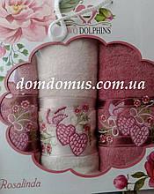"""Подарочный набор полотенец """"Rosalinda"""" (баня 1 шт., лицо 2 шт.) TWO DOLPHINS, Турция 0125"""