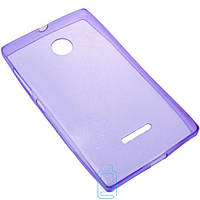 Чехол силиконовый цветной Nokia Lumia 435 фиолетовый