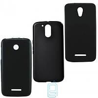 Чехол силиконовый цветной Nokia Lumia 435 черный
