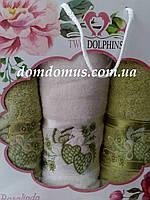 """Подарочный набор полотенец """"Rosalinda"""" TWO DOLPHINS, Турция 0127"""