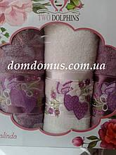 """Подарочный набор полотенец """"Rosalinda"""" (баня 1 шт., лицо 2 шт.)  TWO DOLPHINS, Турция 0128"""