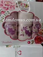 """Подарочный набор полотенец """"Rosalinda"""" TWO DOLPHINS, Турция 0129"""