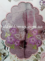 """Подарочный набор полотенец """"Samantha"""" TWO DOLPHINS, Турция розовый"""