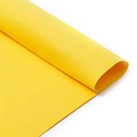 Фоамиран Желтый Эва 2 мм 50х50 см