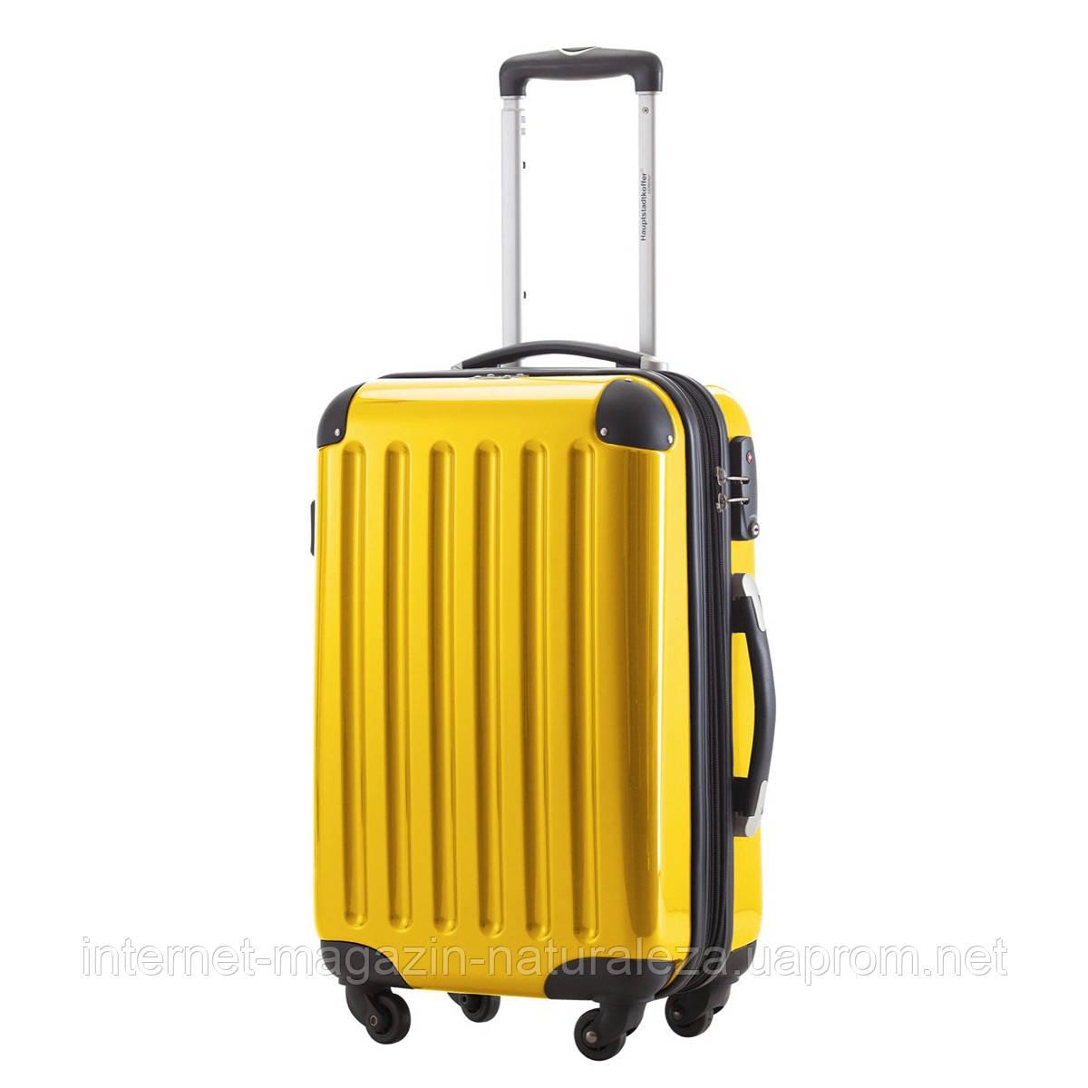 Чемодан на колесах Hauptstadtkoffer Alex Mini желтый