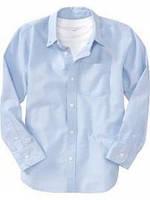 Рубашка Gymboree Школа для мальчиков голубой L