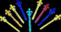 """Шпажки """"Ланселот"""" для канапе цветные (1000 шт./уп.,16 уп/ящ)"""
