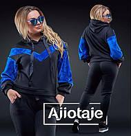 Тёплый женский спортивный костюм с капюшоном - 18009