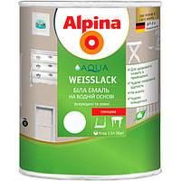 Эмаль Alpina Aqua Weisslack глянцевая 2.5 л