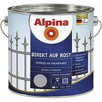 Эмаль Alpina Direkt auf Rost бордовая 0.3 л