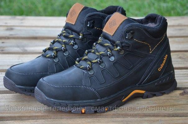 5ddec7b821bb Мужские зимние кожаные ботинки Columbia NS black   продажа, цена в ...