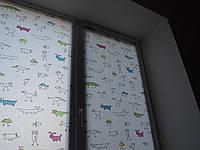 Рулонные шторы на окна цена за зверушки, фото 1