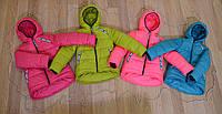 """Зимние куртки для девочек """"Вероника"""" (98,104,110,116) 98, розовый"""