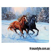 Алмазная вышивка Бегущее кони, фото 1