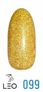Гель-лак №99 золотистий з микроблеском 9 мл