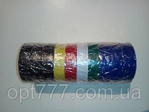 Изолента ПВХ Rygby 10 метров синяя, черная , светофор (разные цвета)