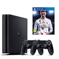 Ігрова приставка Sony PlayStation 4 Slim (PS4 Slim) 1TB + 2DS4 + FIFA 18
