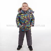 """Детский зимний комбинезон """"Стич"""" куртка + полукомбинезон для мальчика зима 2017"""