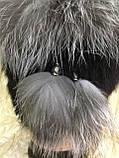 Меховая шапка из кролика и верхом из чернобурки, фото 2