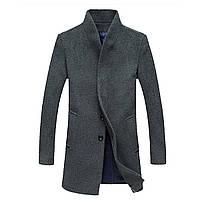 Мужское шерстяное весеннее пальто. Модель 6333
