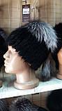 Меховая шапка из кролика и верхом из чернобурки, фото 5