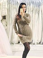 Женское вязаное платье отличного качества