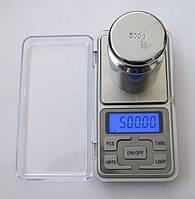 Карманные ювелирные весы до 500 гр. (шаг 0,1г)