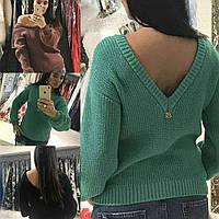 Женский стильный свитер оригинальный дизайн качесвенная шерсть идеальная посадка