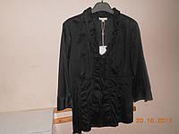 Блузка с рюшами из черного батиста