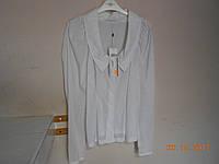 Белоснежная блузка с эффектным рукавом Solar, фото 1