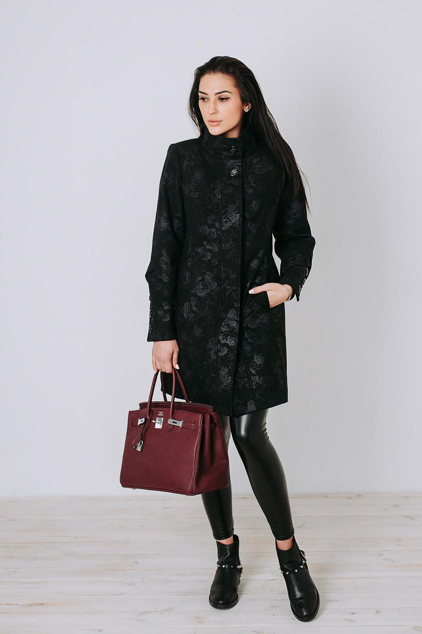 Пальто женское демисезонное из кашемира П 15