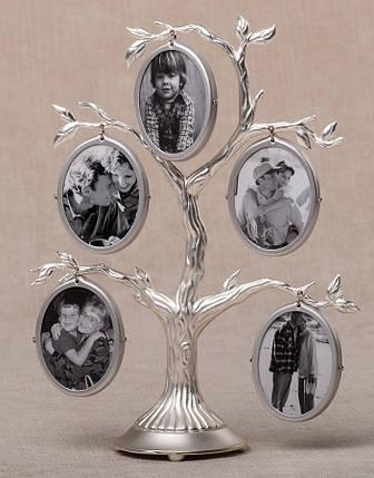 Семейное дерево на 5 фото двухстороннее (19 см) 004-05C, фото 2