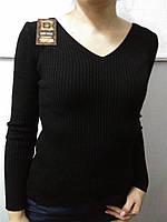 Трикотажная женская кофта джемпер с длинным рукавом скидка