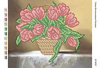 """Схема для вышивки бисером    Натюрморт """" Тюльпаны"""" (част.  выш.)    размер: 24*19 см"""