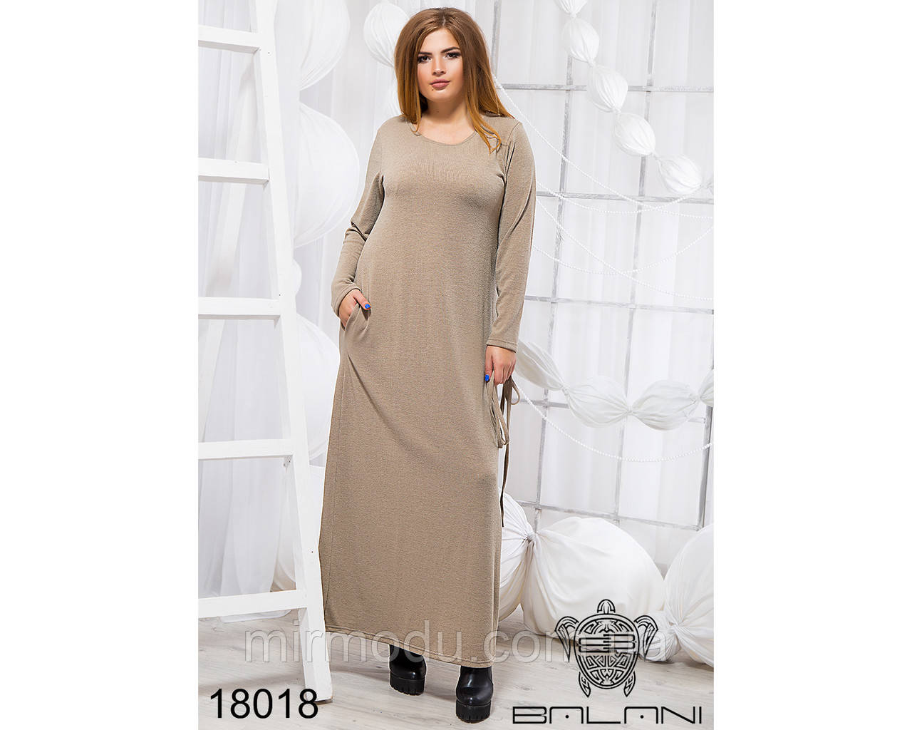 Стильное платье в пол - 18018