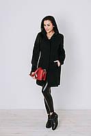 Пальто женское демисезонное из кашемира П 15 довяз рукава