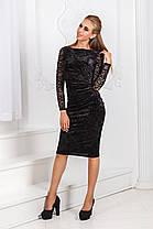 Д1284 Выразительное бархатное платье, фото 3
