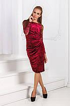 Д1284 Выразительное бархатное платье, фото 2