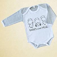 Детский боди эксклюзив Польша для новорожденного 0-3 3-6 6-9 месяцев 68 74