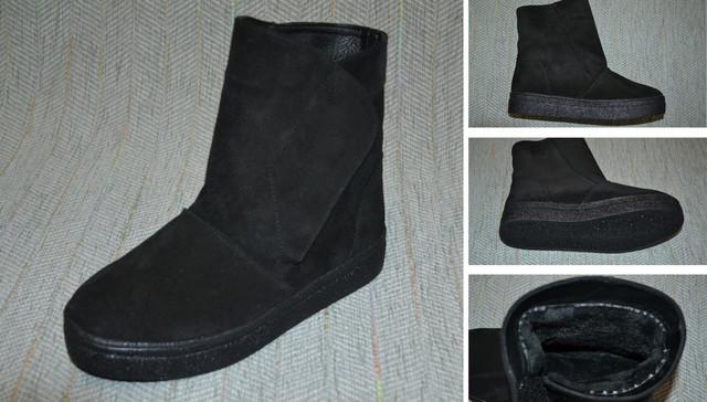 замшевые ботинки угги женские фото