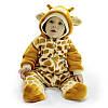 Комбинезон человечек теплый жираф пушистый на новый год выписку зверушки флис