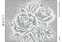"""Схема для вышивки бисером    """"Хрустальные розы""""      размер: 24*19 см"""