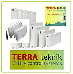 Стальной радиатор отопления 500 на 400, тип 22 , TERRA teknik боковое подключение