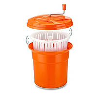 Ведро для сушки зелени 25 л., 42х40 см. пластиковое, оранжевое Lacor