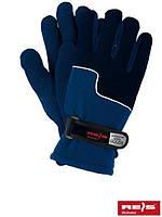 Зимние перчатки REIS, теплые, флисовые, т.синие 10рр