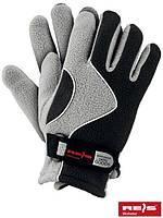 Зимние перчатки REIS, теплые, флисовые св.серые 8 р-р