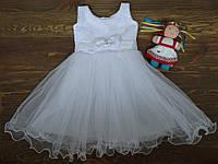 """Праздничное нежное платье """"Аделина"""" для девочек белое 2-3 года"""